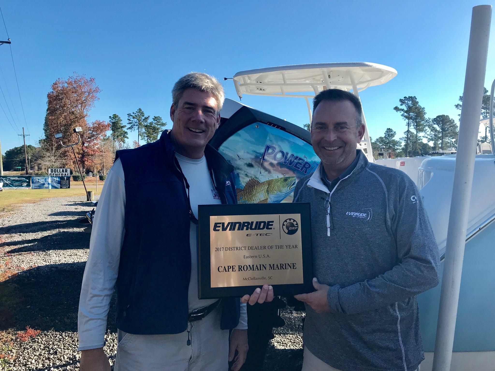 Regional evinrude dealer of the year
